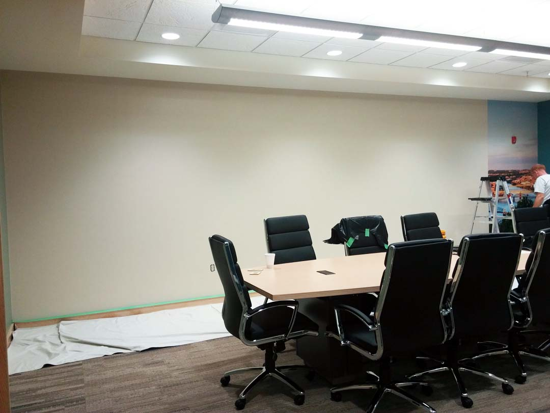 Conference room bare wall